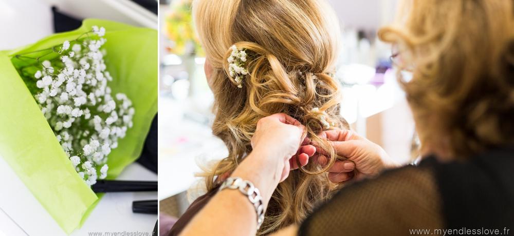 préparatifs mariée salon coiffure