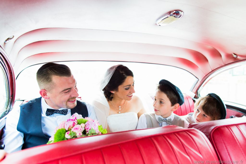 mariage-theme-fifties-voiture des mariés-strasbourg