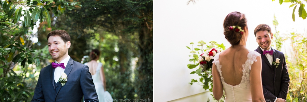 photographe mariage émotion first look
