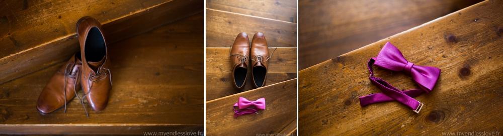 chaussures du marié photos de détails